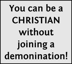 You can be just Christian!