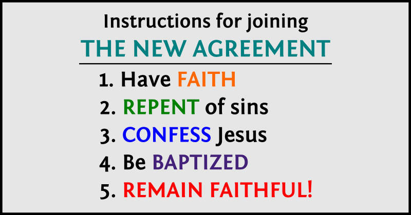 Instructions for joining the new agreement